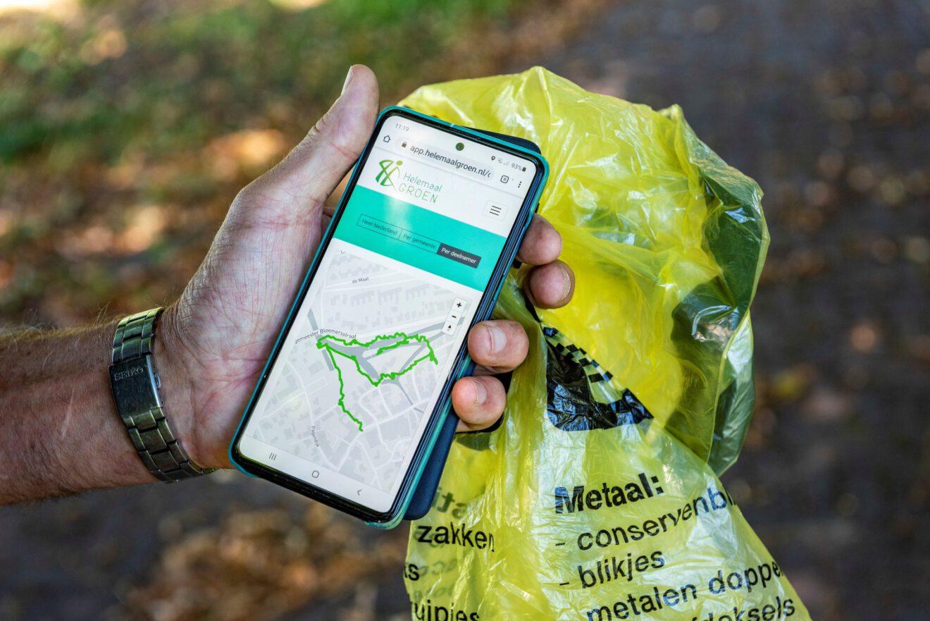 Smartphone route bron helemaalgroen.nl LR